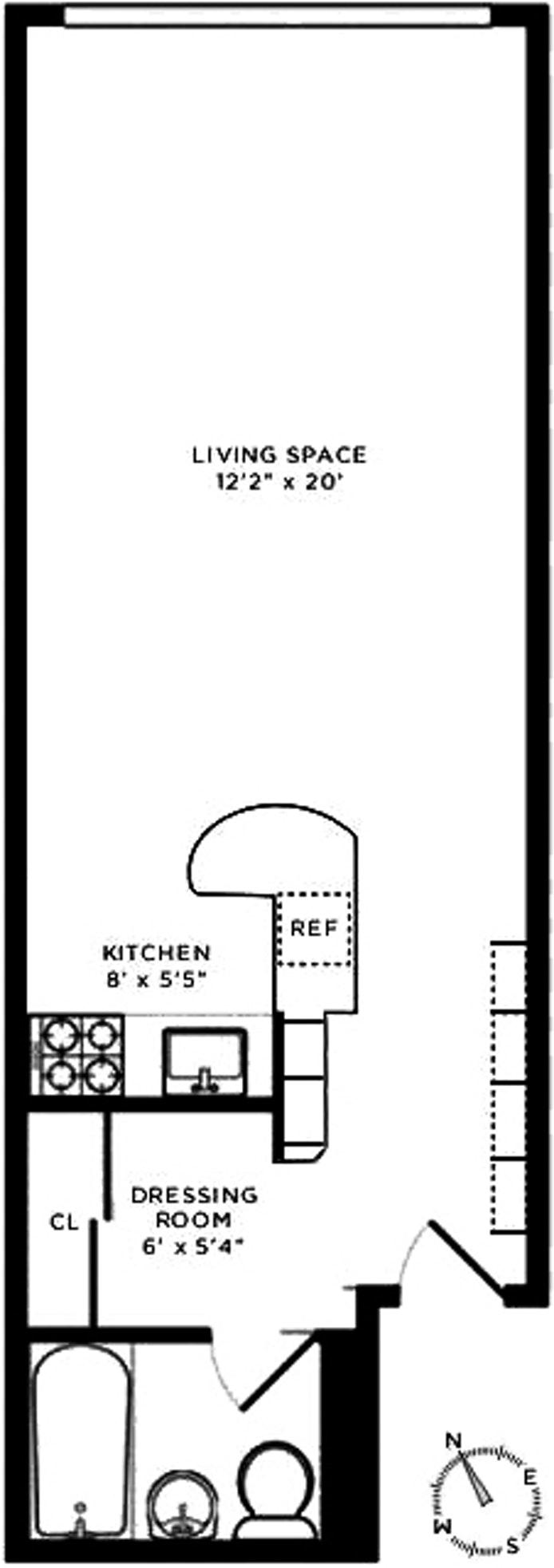 209 East 56th Street 6H, Midtown East, NYC, $359,000, Web #: 20333122