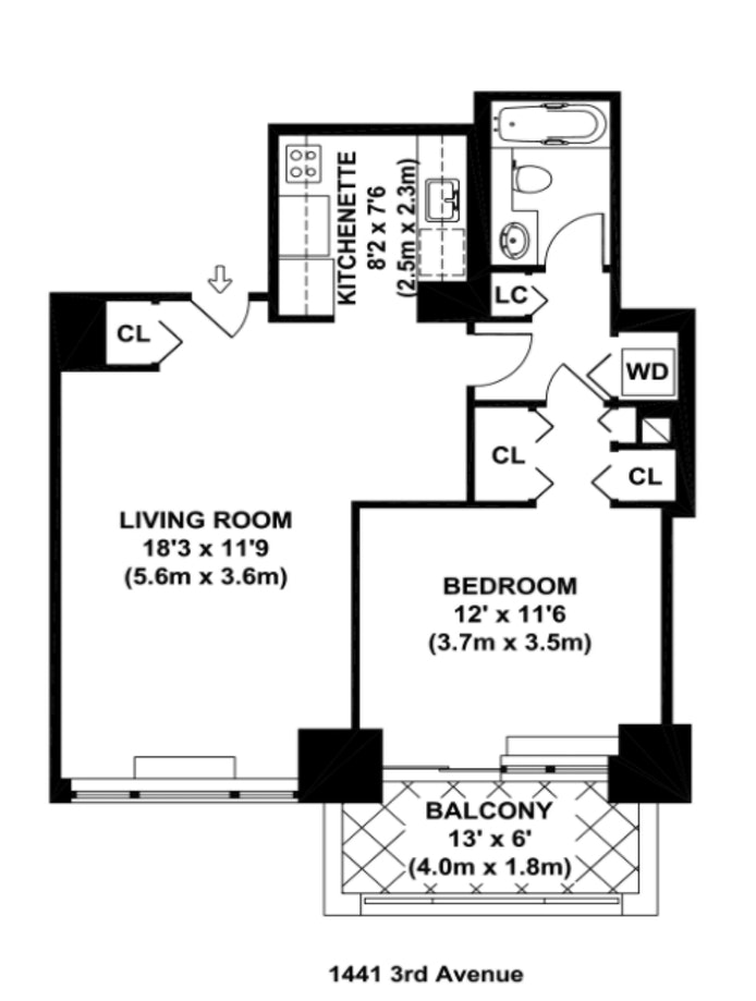 1441 Third Avenue 11B, Upper East Side, NYC, $3,375, Web #: 20333833