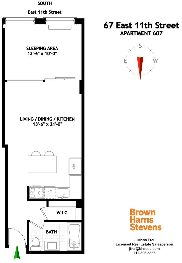 67 East 11th Street 607, East Village, NYC, $2,950, Web #: 20334473