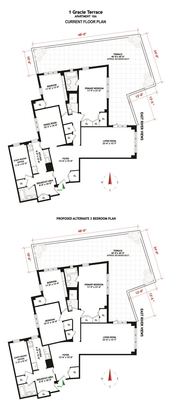 1 Gracie Terrace 18A, Upper East Side, NYC, $1,995,000, Web #: 20335407
