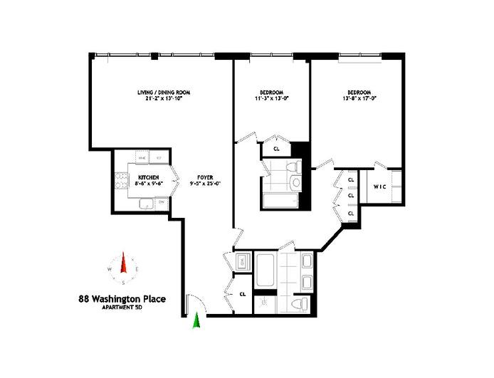88 Washington Place 5D, Central Village, NYC, $9,000, Web #: 20337502