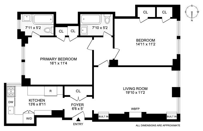 205 East 78th Street 7H, Upper East Side, NYC, $1,125,000, Web #: 20342605