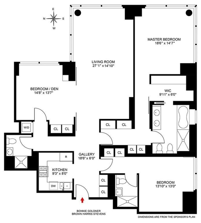230 West 56th Street 68B, Midtown West, NYC, $3,999,000, Web #: 20345756