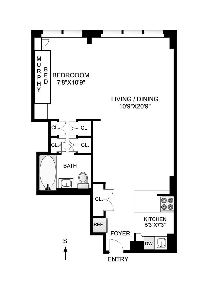 301 East 22nd Street 12H, Gramercy Park, NYC, $485,000, Web #: 20347727