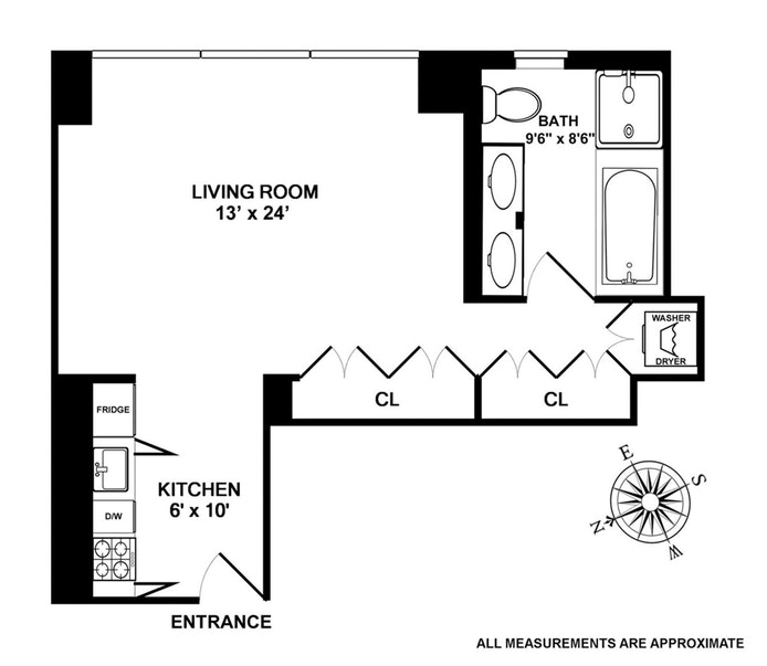 18 West 48th Street 7C, Midtown West, NYC, $2,800, Web #: 20350687