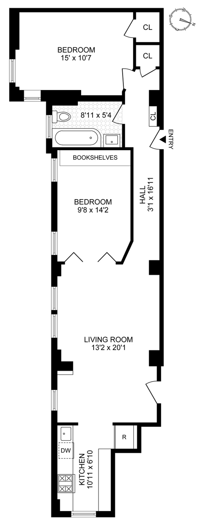 790 Riverside Drive 5C, Washington Heights, NYC, $700,000, Web #: 20350772