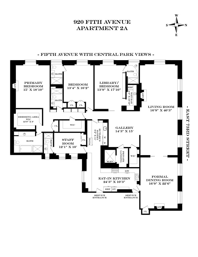 920 Fifth Avenue 2A, Upper East Side, NYC, $13,750,000, Web #: 20352947