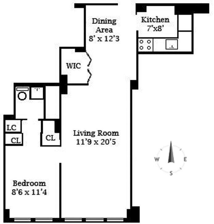 520 East 72nd Street 6U, Upper East Side, NYC, $495,000, Web #: 20354388