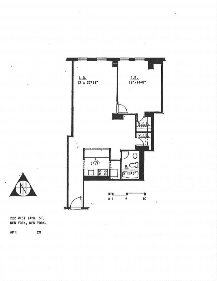 222 West 14th Street 2N, West Village, NYC, $3,650, Web #: 20354484