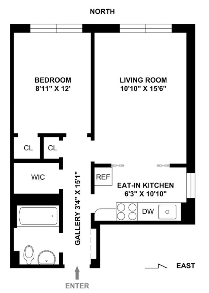 38 Gramercy Park North 3F, East Village, NYC, $3,200, Web #: 20359097