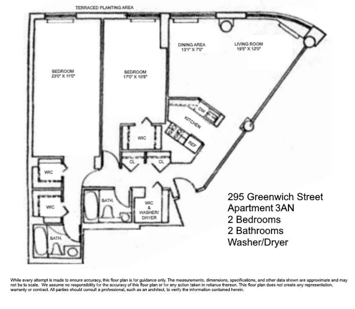 295 Greenwich Street 3An, Tribeca, NYC, $1,675,000, Web #: 20365251