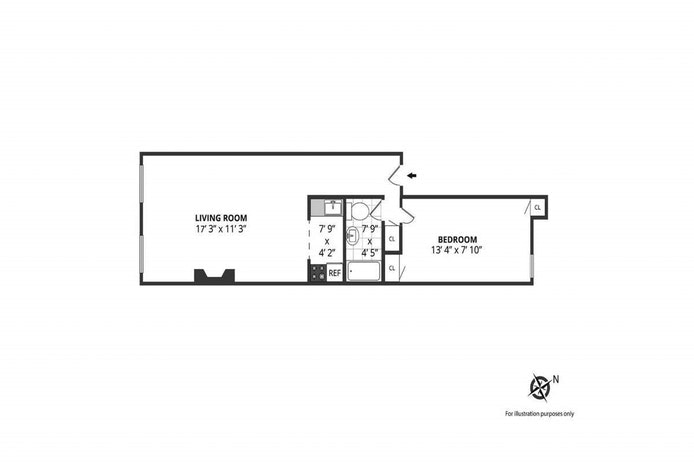 345 West 21st Street 4D, Chelsea, NYC, $2,695, Web #: 20370245
