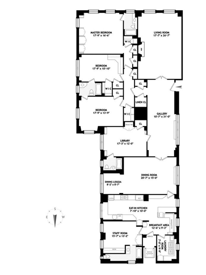 1021 Park Avenue 5C, Upper East Side, NYC, $5,950,000, Web #: 20370909