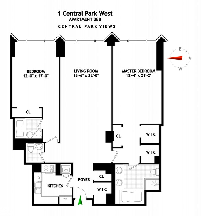 1 Central Park West 38B, Upper West Side, NYC, $5,375,000, Web #: 20370991
