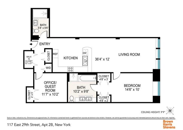 117 East 29th Street 2B, Midtown East, NYC, $1,800,000, Web #: 20371114