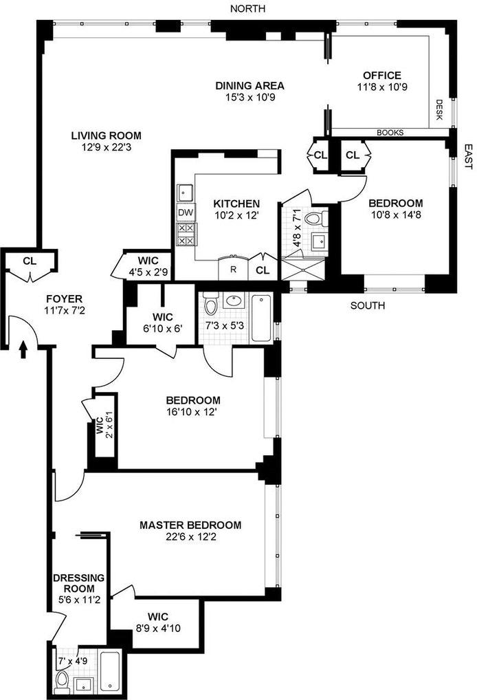 525 East 86th Street 10De, Upper East Side, NYC, $2,250,000, Web #: 20378509