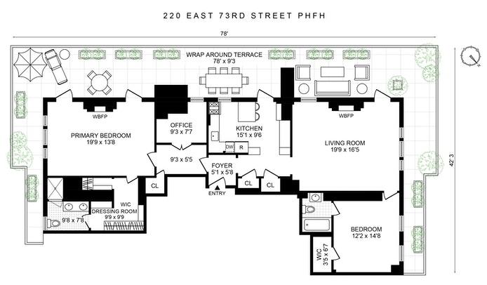 220 East 73rd Street Ph/Fh, Upper East Side, NYC, $2,950,000, Web #: 20386470