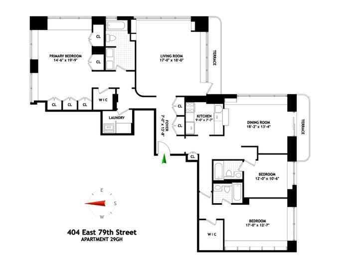 404 East 79th Street 29G/H, Upper East Side, NYC, $2,400,000, Web #: 20388620
