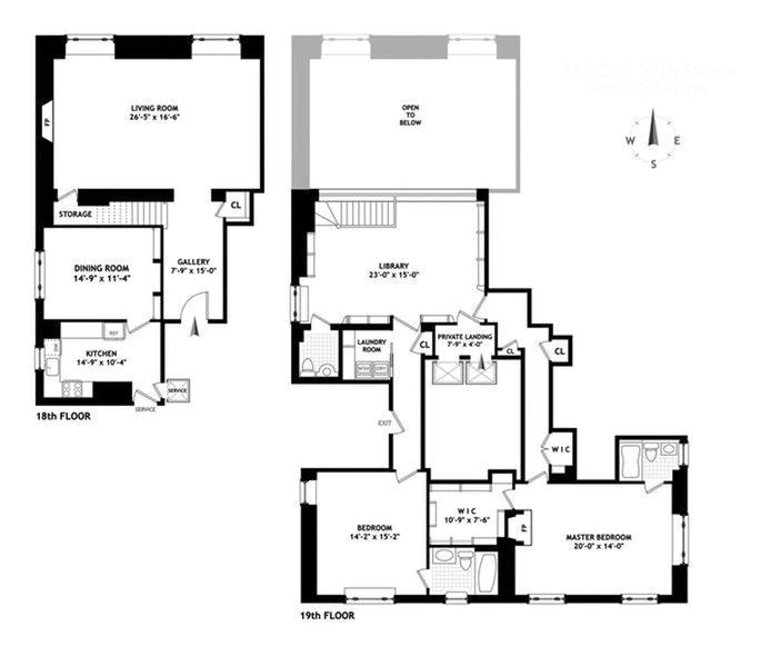 322 East 57th Street 18/19B, Midtown East, NYC, $2,100,000, Web #: 20391060