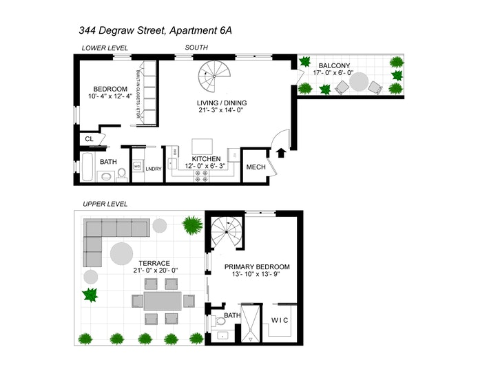 344 Degraw Street 6A, Carroll Gardens, New York, $1,495,000, Web #: 20393364