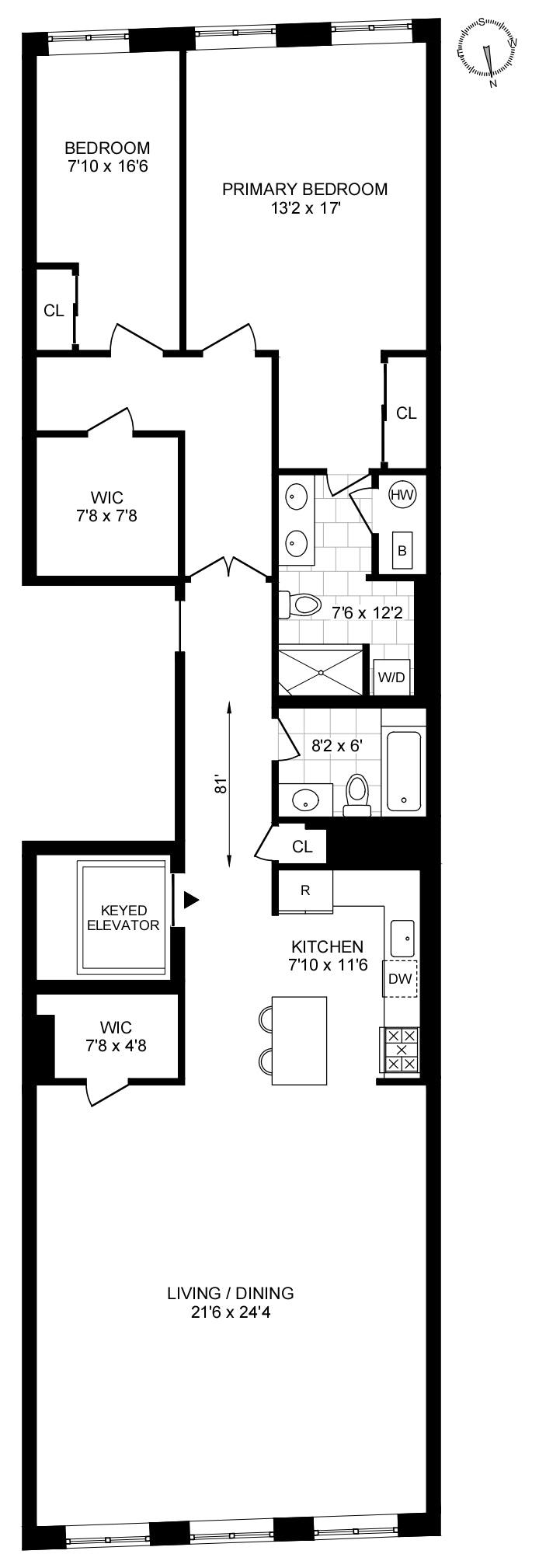 11 Harrison Street 3, Tribeca, NYC, $7,995, Web #: 20393628