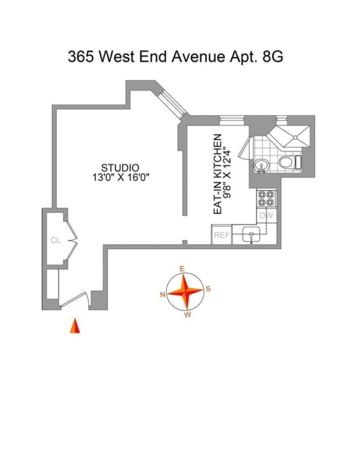 365 West End Avenue 8G, Upper West Side, NYC, $1,925, Web #: 20394115