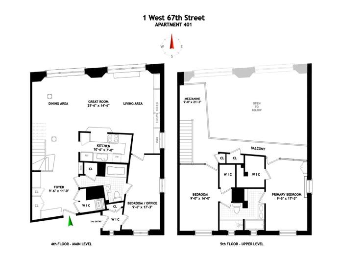 1 West 67th Street 401/402, Upper West Side, NYC, $2,795,000, Web #: 20398471