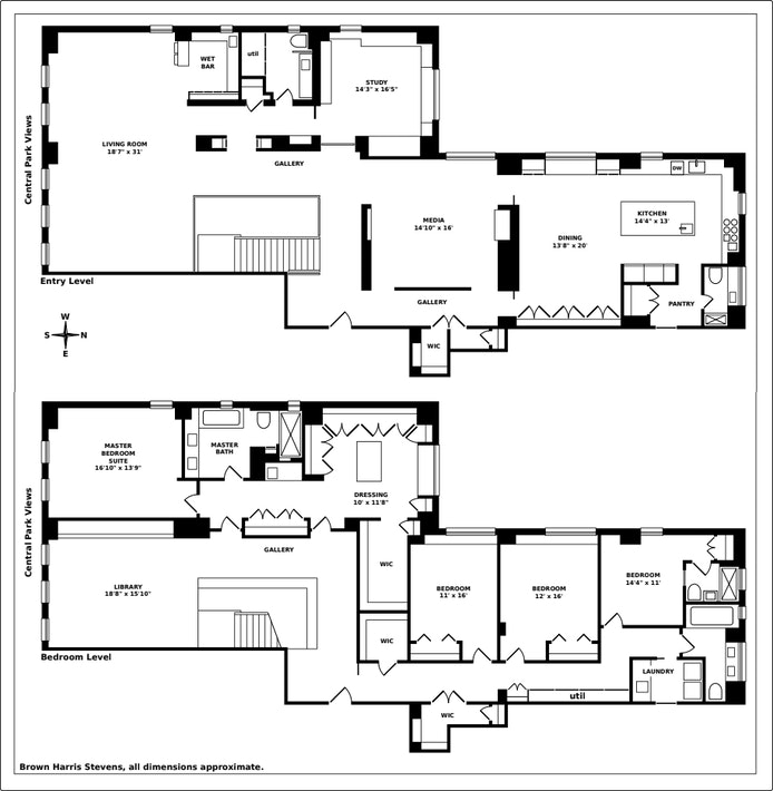 211 Central Park West 15/16A, Upper West Side, NYC, $21,000,000, Web #: 20398481