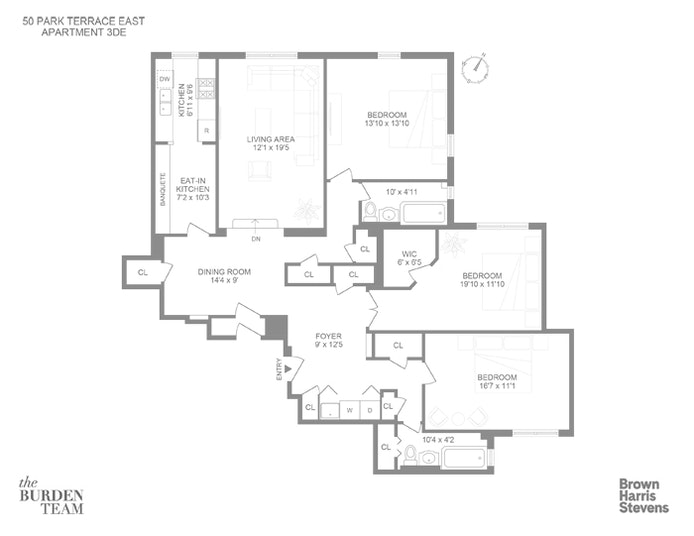 50 Park Terrace East 3D/E, Inwood, NYC, $895,000, Web #: 20400363
