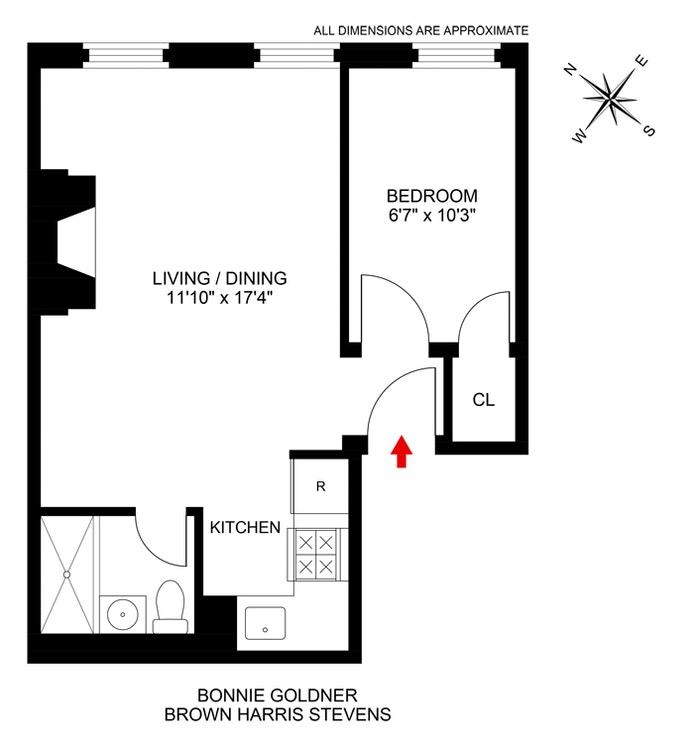 454 West 50th Street 3F, Midtown West, NYC, $1,995, Web #: 20407987