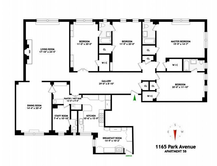 1165 Park Avenue 5B, Upper East Side, NYC, $5,650,000, Web #: 20408096