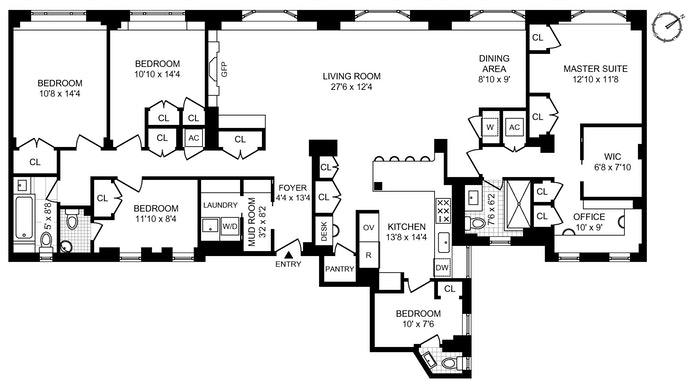 122 East 82nd Street 7C, Upper East Side, NYC, $4,000,000, Web #: 20408313