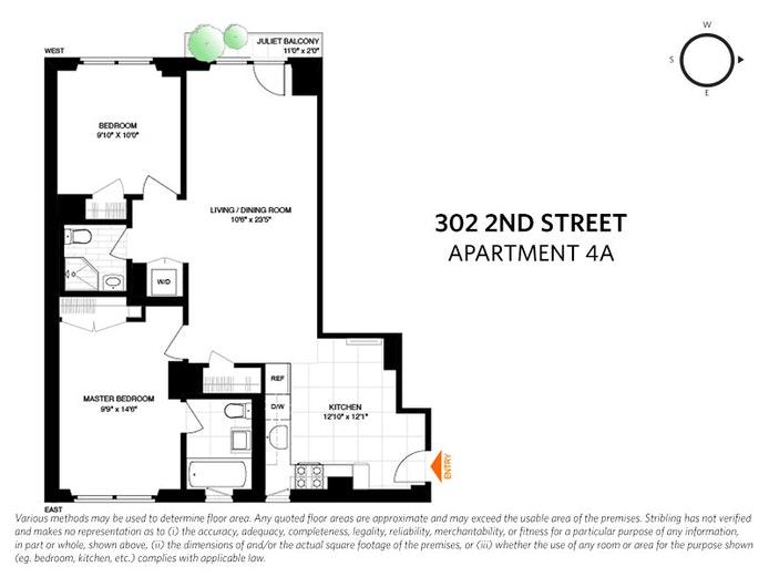 302 2nd Street 4A, Park Slope, New York, $1,025,000, Web #: 20410880