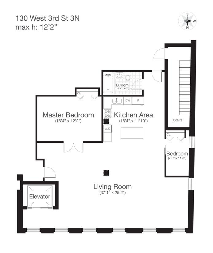 130 West 3rd Street 3N, Greenwich Village/NOHO/Little Italy, NYC, $5,578, Web #: 20417883