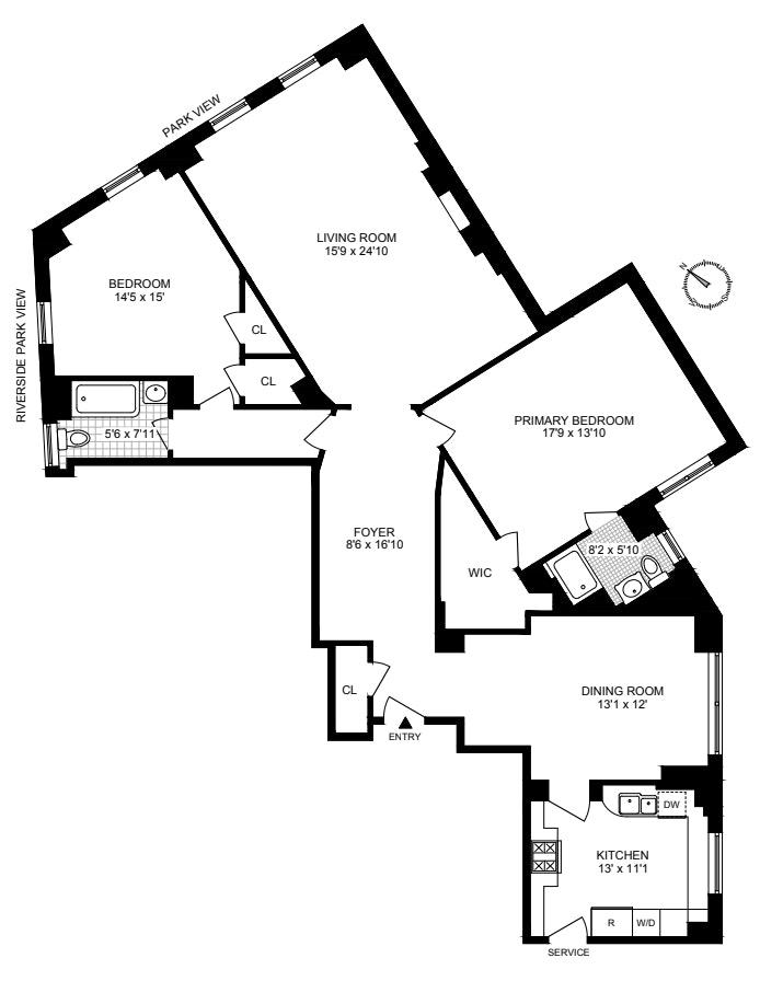 173 -175 Riverside Dr 4F, Upper West Side, NYC, $1,525,000, Web #: 20417972