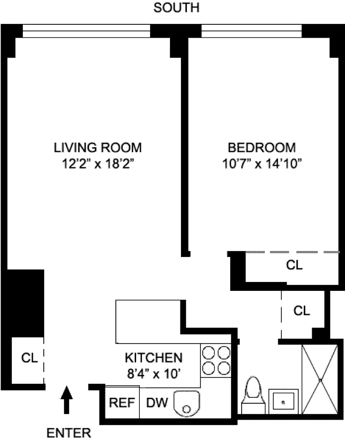 130 West 67th Street 5J, Upper West Side, NYC, $2,800, Web #: 20425413