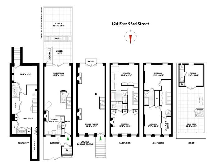 124 East 93rd Street, Upper East Side, NYC, $5,000,000, Web #: 20445673
