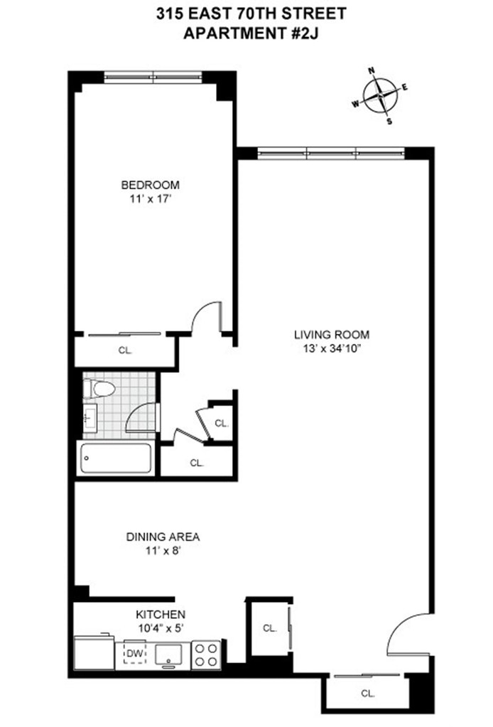 315 East 70th Street 2J, Upper East Side, NYC, $650,000, Web #: 20451560