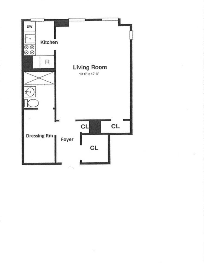 340 West 57th Street 4H, Midtown West, NYC, $1,850, Web #: 20460065