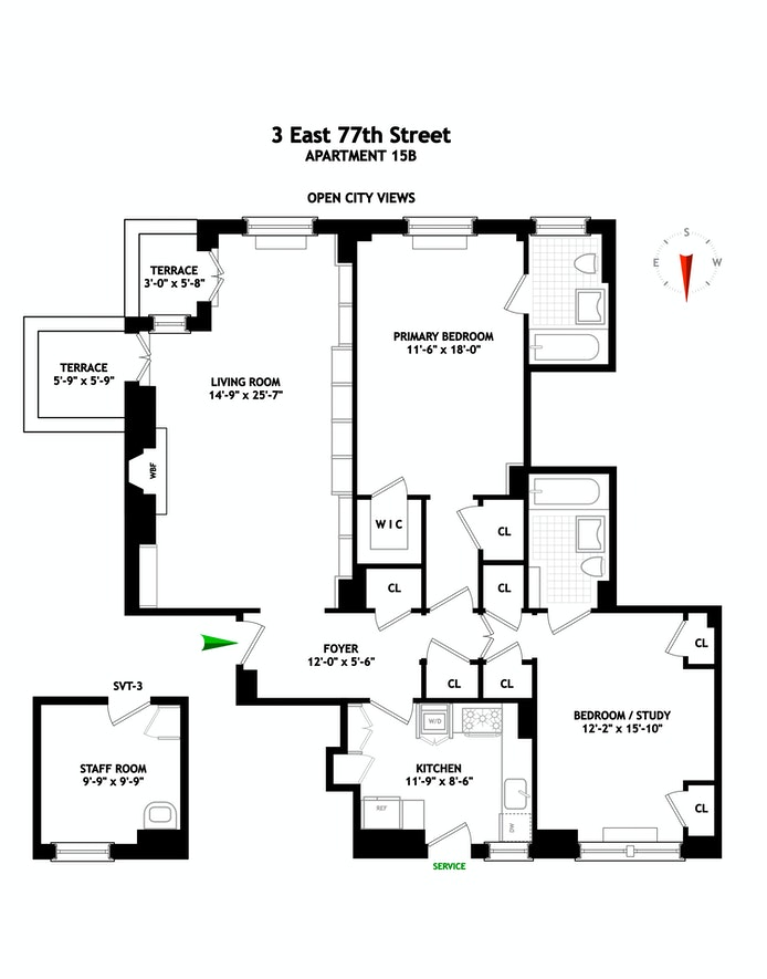 3 East 77th Street 15B, Upper East Side, NYC, $4,250,000, Web #: 20460862