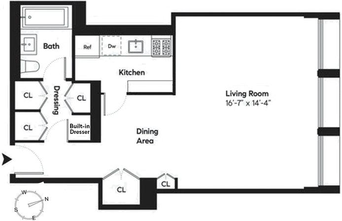 300 East 33rd Street 14E, Murray Hill Kips Bay, NYC, $650,000, Web #: 20463060