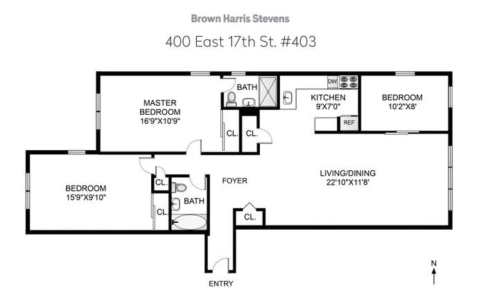 400 East 17th Street 403, Brooklyn, New York, $799,000, Web #: 20483534