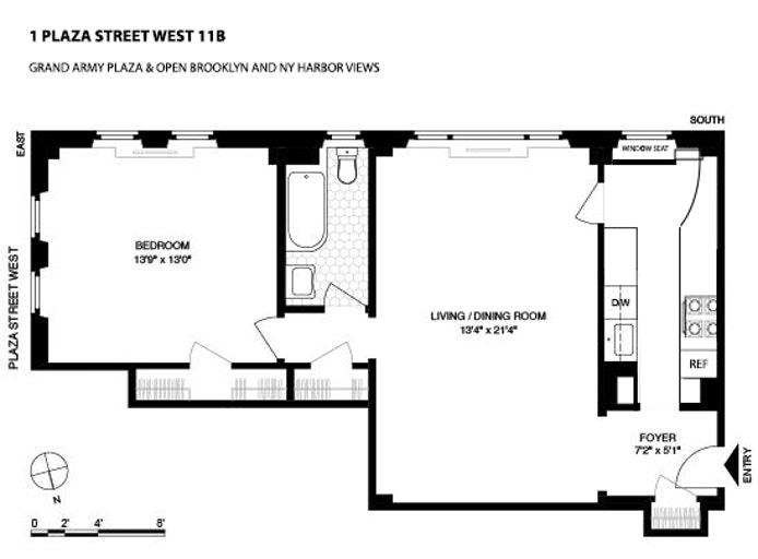 1 Plaza Street West 11B, Brooklyn, New York, $840,000, Web #: 20483535