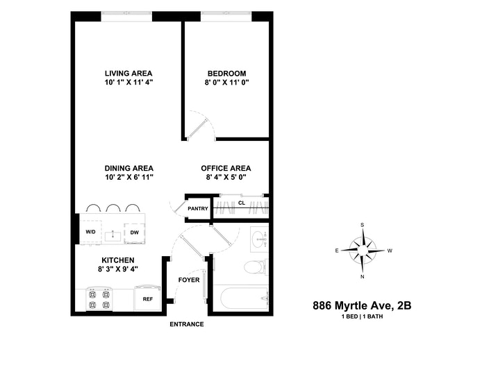 886 Myrtle Avenue 2B, Clinton Hill, New York, $490,000, Web #: 20485974