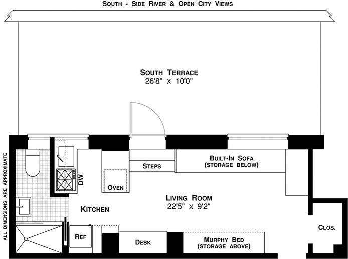 370 Riverside Drive 16C, Upper West Side, NYC, $550,000, Web #: 20486215