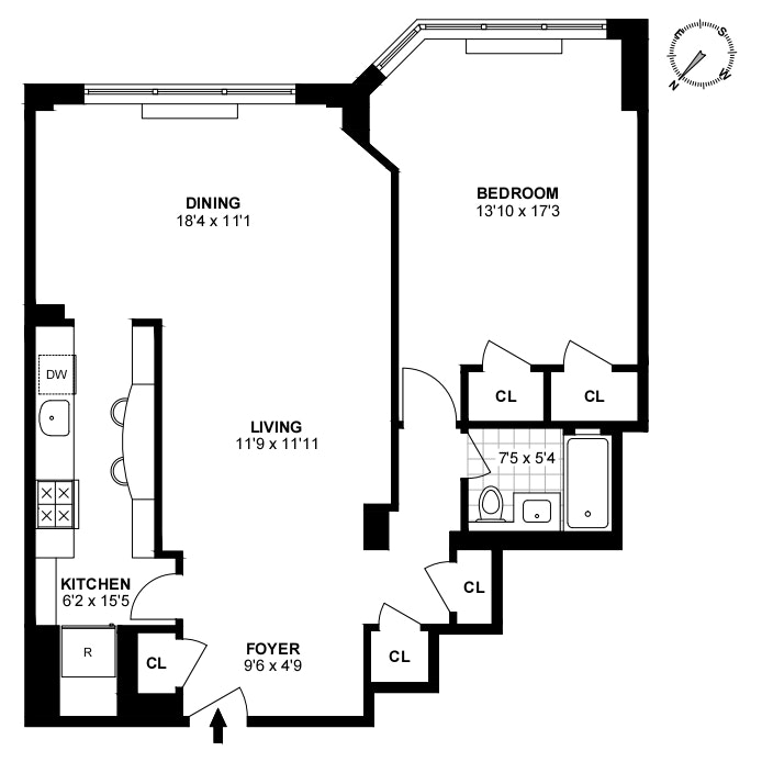 20 Sutton Place South 17B, Midtown East, NYC, $750,000, Web #: 20493417