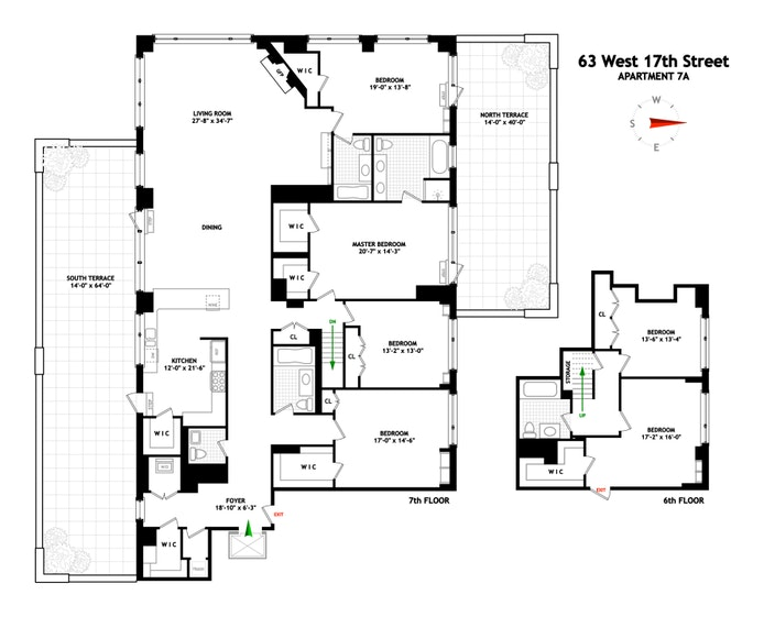 63 West 17th Street 7A, Chelsea, NYC, $5,995,000, Web #: 20493967