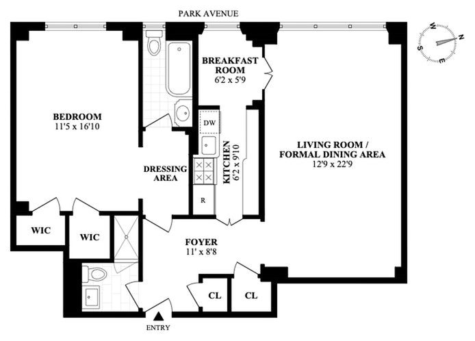 785 Park Avenue 10D, Upper East Side, NYC, $1,100,000, Web #: 20501128