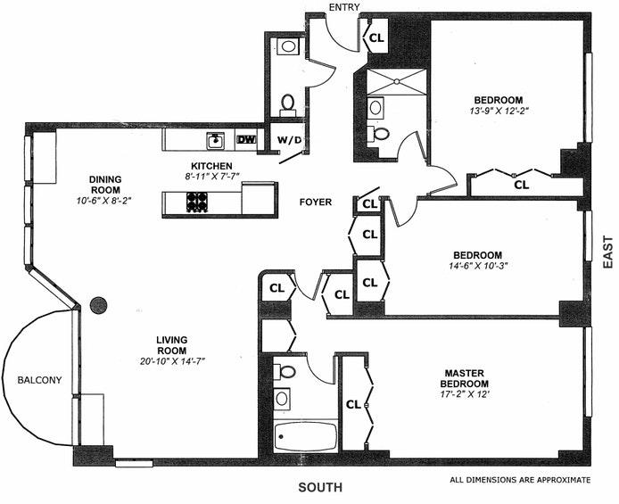 2521 Palisade Ave 12A, Spuyten Duyvil, New York, $1,195,000, Web #: 20508457