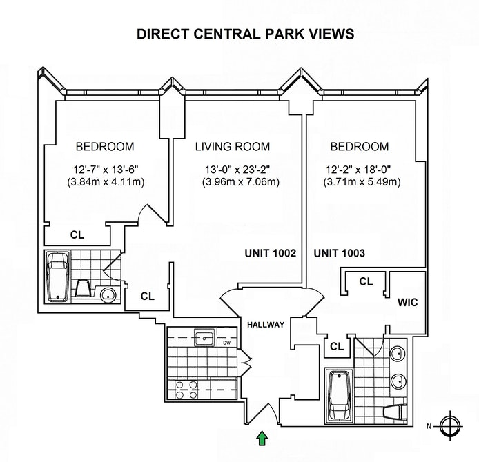 1 Central Park West 1002/1003, Upper West Side, NYC, $2,795,000, Web #: 20509215